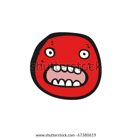 Panic Face Cartoon http://www.shutterstock.com/pic-67380619/stock-vector-scared-face-cartoon.html