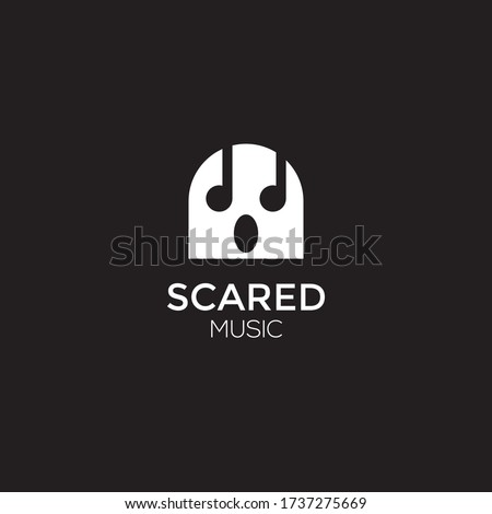 scared ghost vector
