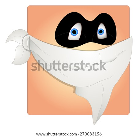 Scared Thief Mask Smiley Vector