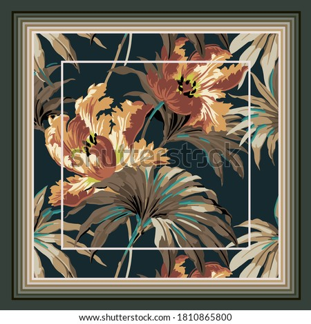scarf design textile vector illustration Foto stock ©