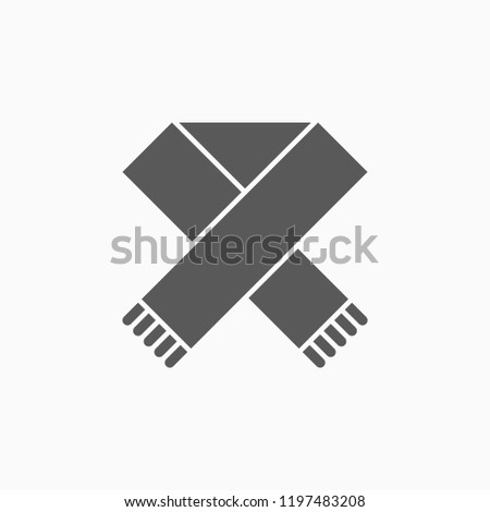 scarf icon, muffler vector
