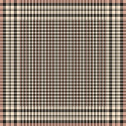 Scarf print vector in black, beige, pink with houndstooth check plaid pattern. Square spring autumn background for silk scarf, bandana, shawl, hijab, other modern accessory fashion fabric design.