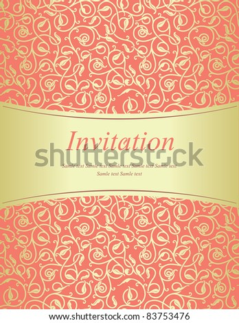 Scarlet invitation