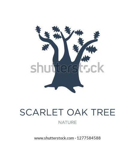scarlet oak tree icon vector on white background, scarlet oak tree trendy filled icons from Nature collection, scarlet oak tree vector illustration