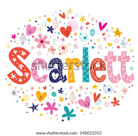 scarlett female name decorative