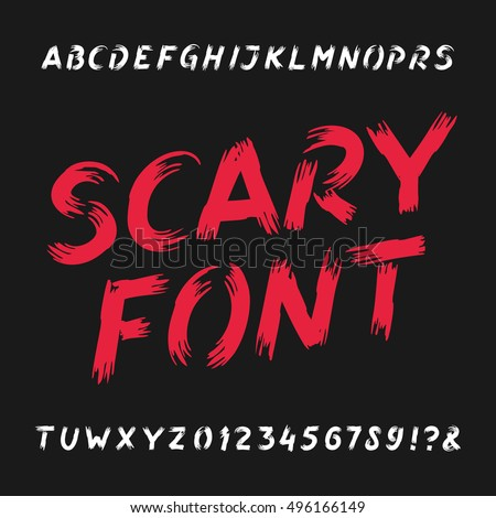 scary alphabet font dirty