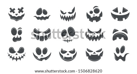 scary and funny faces of