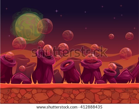 scary another world vector