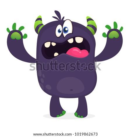 scary cartoon black monster