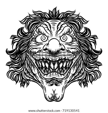 scary cartoon clown