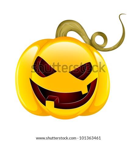 Scary Cartoon Jack O Lantern