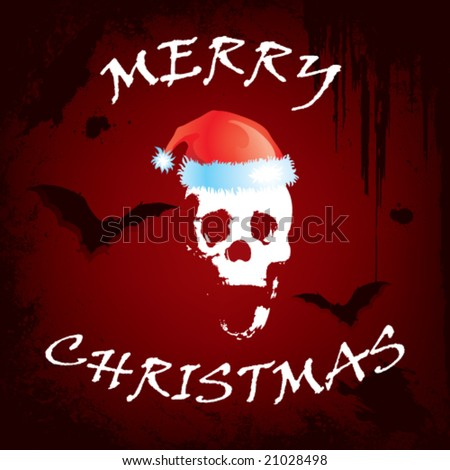 Merry Christmas Everybody Stock-vector-scary-christmas-greeting-card-vector-art-21028498