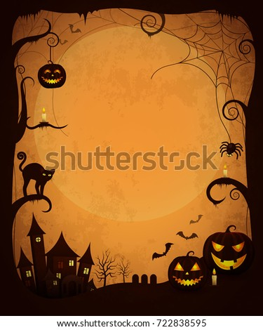 scary dark halloween poster