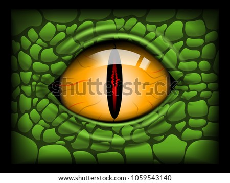 scary eye of a reptile vector