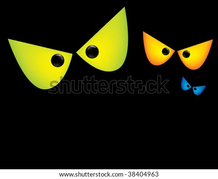 Scary Eyes Clip Art http://www.shutterstock.com/pic-38404963/stock-vector-scary-eyes-background.html