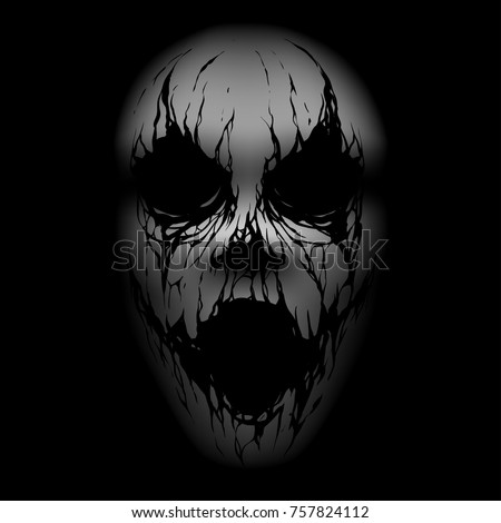 scary face illustration