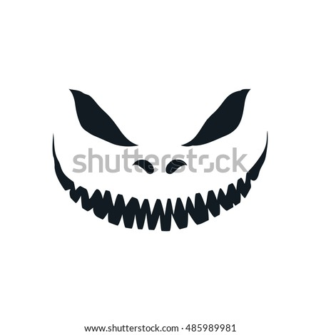 scary face isolated on white