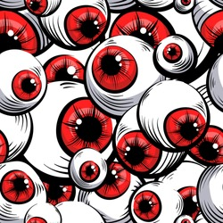 Scary fantasy pattern background.Red eyes .