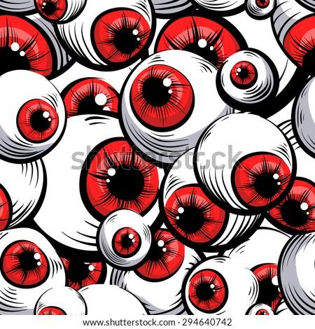 Stock Photo Scary fantasy pattern background.Red eyes .