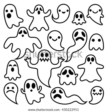 scary ghosts design  halloween