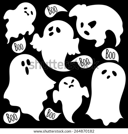 scary ghosts set