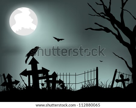 scary halloween background eps