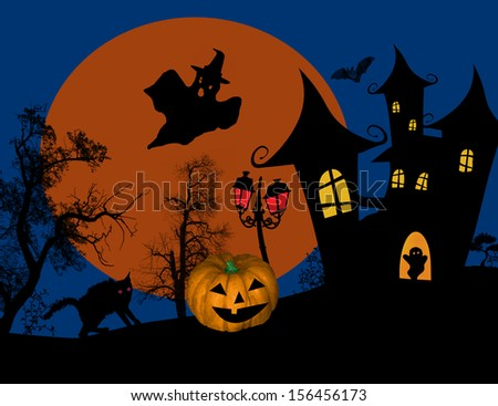 scary halloween background with