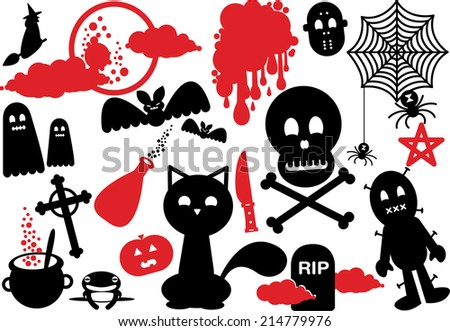 scary halloween night icon