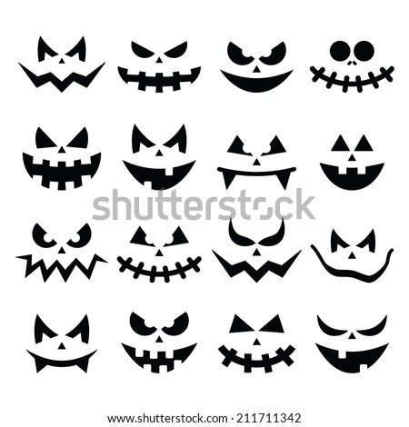 scary halloween pumpkin faces
