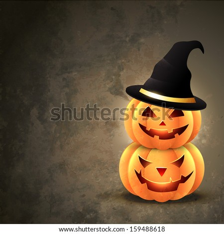 scary halloween pumpkin with
