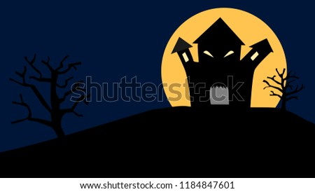 scary haunted house with
