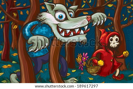 scary little red riding hood