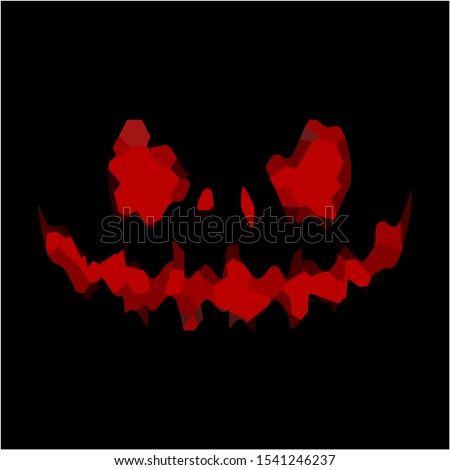 scary smile face for halloween