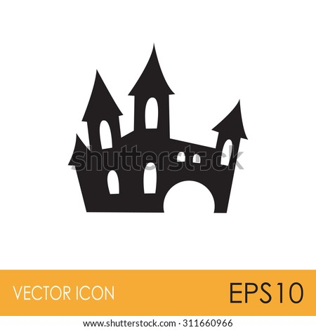 scary spooky castle icon