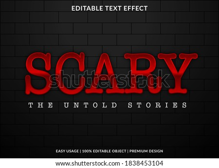 scary text effect template with