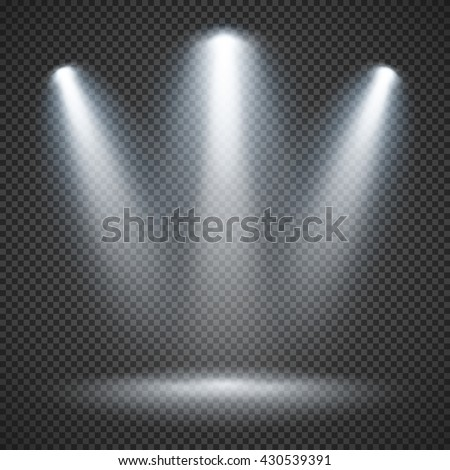 Shutterstock Scene illumination effects on checkered transparent background with bright lighting of spotlights