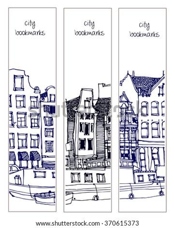 scene street illustration hand