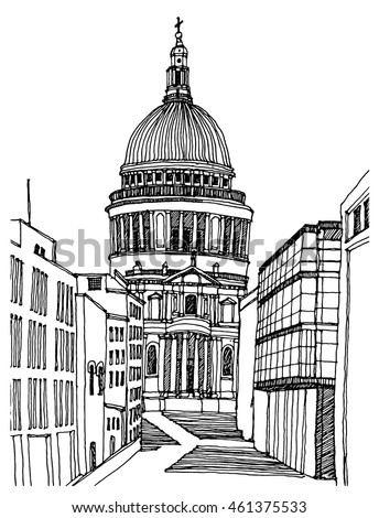 scene street illustrationhand