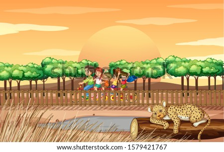 scene with people and cheetah