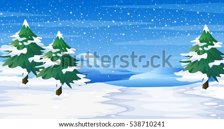 scene with snow on ground and