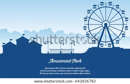 Scenery amusement park style background