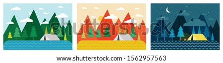 scenery landscape vector design