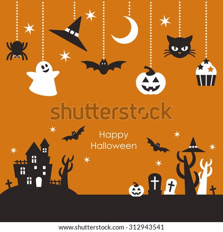 scenery of halloween night