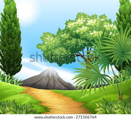 scenery of nature with trees
