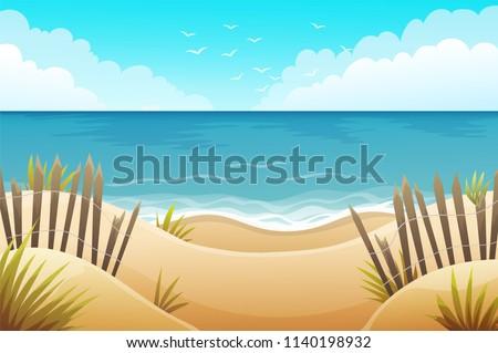 scenery of sand dunes beach