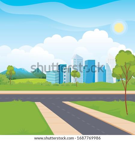 scenery urban city park