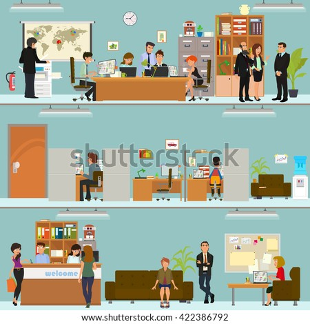 scenes of people working in the