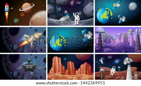 scenes of space backgrounds
