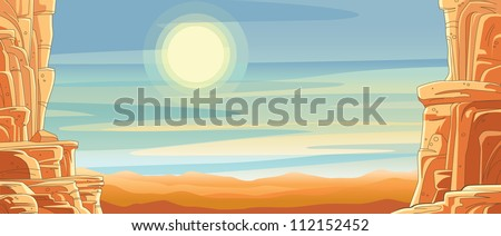 scenic desert canyon background