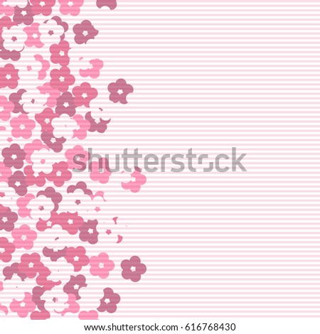 scenic flower pattern isolated
